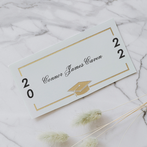 Name Card with foil border