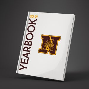 Yearbook with North logo and school year.